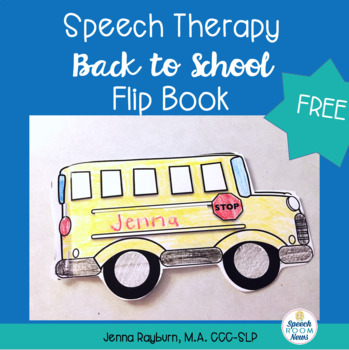 Back to School Speech Therapy Flip Book Freebie