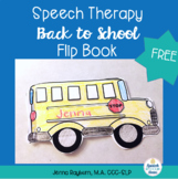 Back to School Speech Therapy Flip Book Freebie