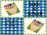 Back to School!  Speech Therapy Game and Activity Packet for K Sound
