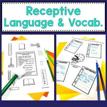 Back to School - Speech and Language BUNDLE