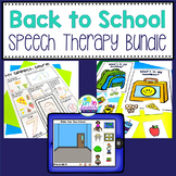Back to School Speech Therapy Activities
