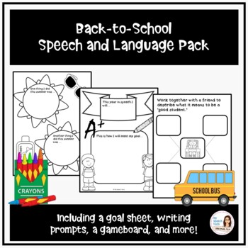 Back-to-School Speech and Language Packet