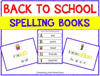 Back to School Spelling Books (Adapted Book)
