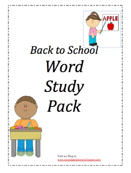 Back to School Spelling Companion Pack