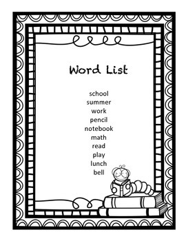 Back to School Spelling Mini Pack