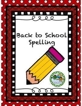 Back to School Spelling Mini Pack