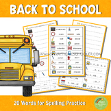 Back to School Spelling Words Practice
