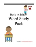 Back to School Spelling pack