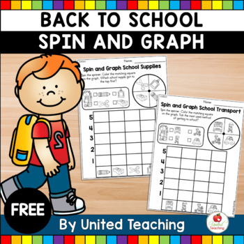 Back to School Spin & Graph School Supplies Freebie