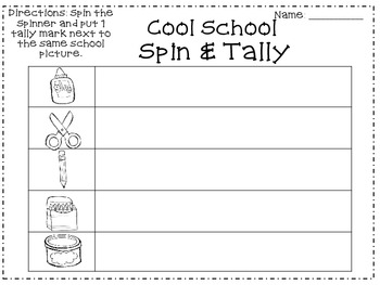 Back to School Spin & Tally