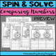 Back to School Spin and Solve Math Practice ~ Compare and Order Numbers