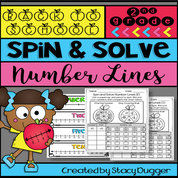Back to School Spin and Solve Number Lines Math Practice
