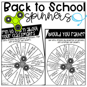 Back to School Spinner Game