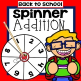 Back to School Addition Game First Grade