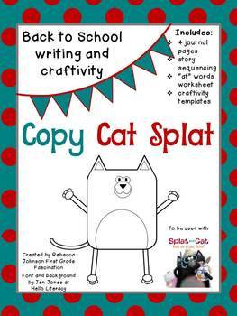Back to School, Splat Writing and Craftivity