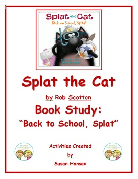 Splat the Cat Back to School Book Study
