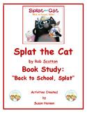 Splat the Cat Back to School Book Study