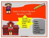 Back to School Spoons Game