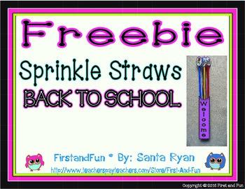 Back to School Sprinkle Straw Freebie