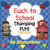Back to School Stamping FUN! FREEBIE!