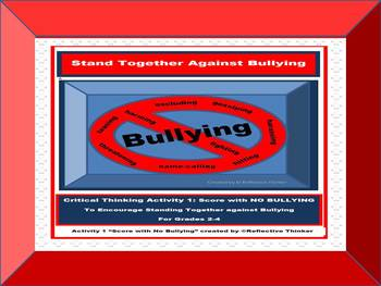 Free Critical Thinking Puzzle:  Stand Together against Bullying