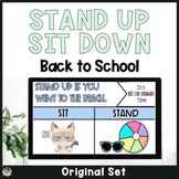 Back to School Stand Up Sit Down Icebreaker Game