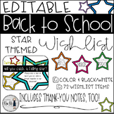 Back to School Star Themed Classroom Wish List {Editable}