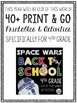 Back to School (Star Wars Inspired) Fourth Grade Activities