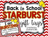 Back to School Starburst Gift Tags Freebie
