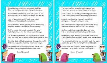 Back to School Stardust Poem Freebie