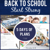 Back to School:  Start Strong with 1 WEEK of Activities fo