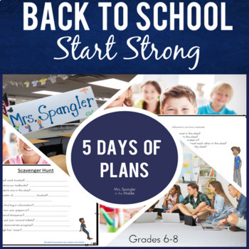 Back to School Activities:  Start Strong with 1 WEEK of Plans for Middle School!