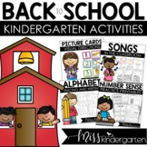 Back to School Kindergarten Activities | Back to School Bundle