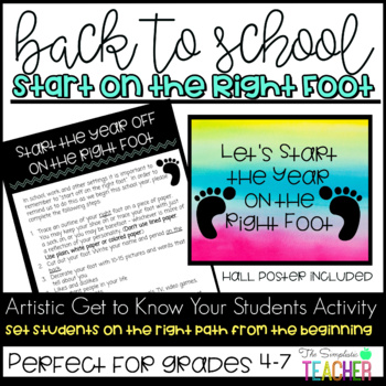Back to School Start Off on the Right Foot Get to Know You Activity