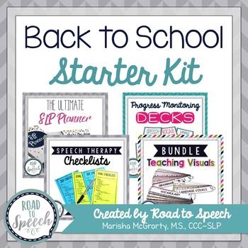 Back to School Starter Kit for SLPs