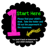Back to School Station Signs (jpeg clipart)