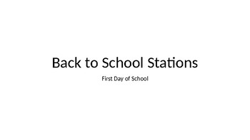 Back to School Stations