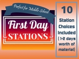 First Day (or two) Stations for Middle School