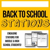 First Day of School Stations - Engaging Activities for the