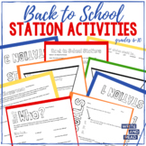Back to School Station Activities