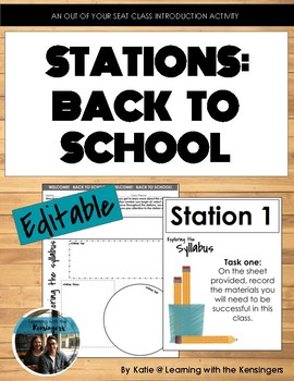 Back to School Stations: An activity to learn about the class & students