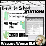 Back to School Stations--EDITABLE