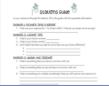 Back to School Stations Guide