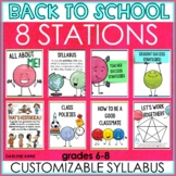 Back to School Stations Middle School