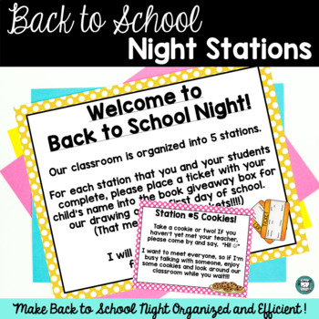 Seeing Spots - Back to School Stations/Signs - Editable