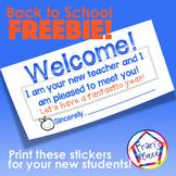 Back to School Sticker Freebie! {Print on labels}