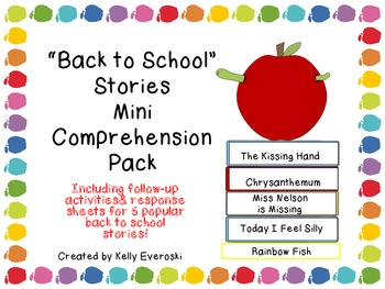 """Back to School"" Stories - Mini Comprehension Pack"