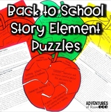 Back to School Story Element Puzzles