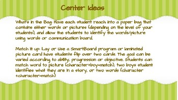 Back to School Story Elements Lesson Plan