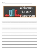 Back-to-School Story Papers with Handwriting Lines